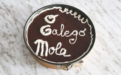 Tarta de chocolate e galleta da avoa
